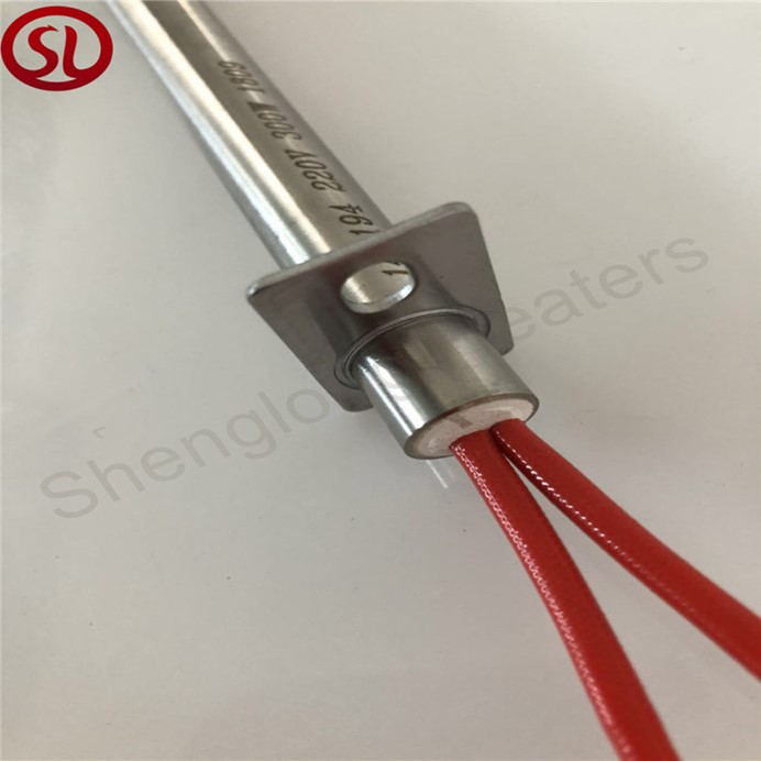 Single tube electric heating rod cartridge heater for smokeless barbecue oven