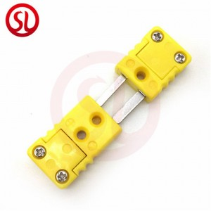 Mini Thermocouple Connectors Plug Type K ANSI Color Code