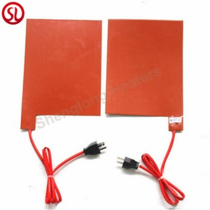 Flexible Silicone Rubber Heater Pad With 3M Adhesive