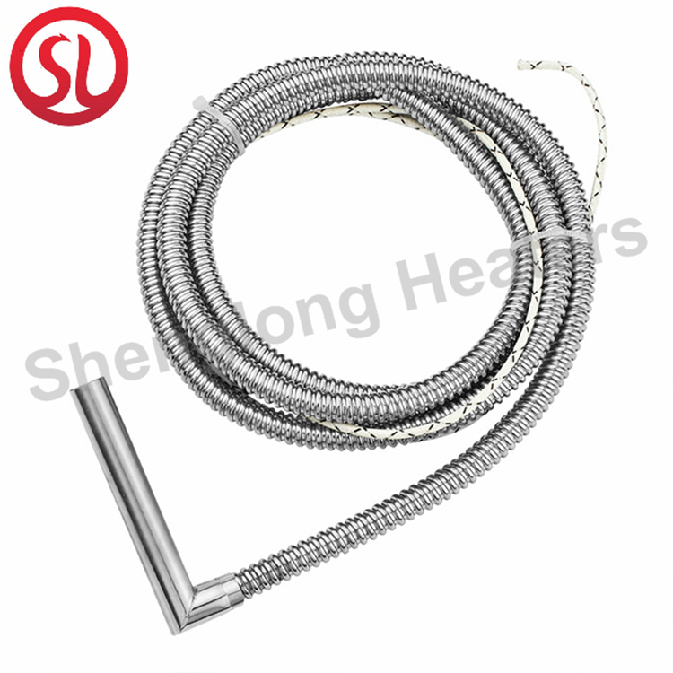 Customized stainless steel cartridge heater for packaging machine