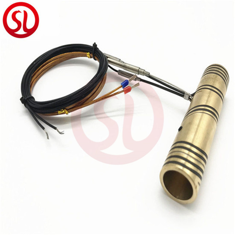 Copper nozzle hot runner coil heater