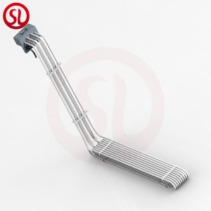 L shaped stainless steel teflon PTFE immersion heater