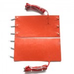 24V DC Silicone Rubber Band Heater Pad with spring