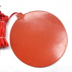 Dia 350mm 800W Round Silicone Heater Bed Heating Pad for industrial