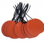 150mm Diameter Round Silicone Rubber Heater Mat with Adhesive