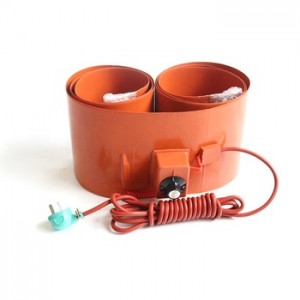 250x1740mm 2000w silicone rubber 200l drum heater