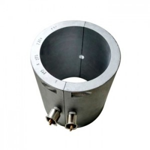 Electric cast aluminum band heater for injection die and mold