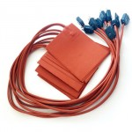 110V 50mm*150mm Silicone Rubber Heater with Plug