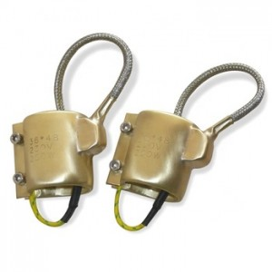 custom made mica insulated brass copper band heater