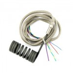 Spring type heater coil with thermocouple