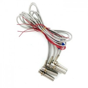 L right angle cartridge heater with stainless steel hose
