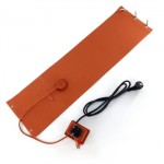 Factory Electric Heating Element Silicone Rubber Heater Pad 200 Degree With Temperature Controller